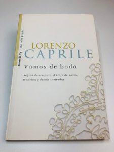 Libro de Lorenzo Caprile vamos de boda
